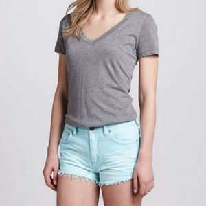 Free People Blue Colored Dolphin Cutoff Shorts